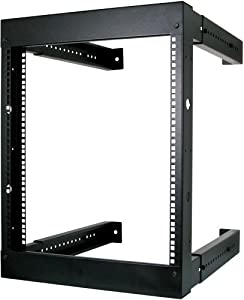 12U Open Wall Mount Frame Rack - Adjustable Depth 18