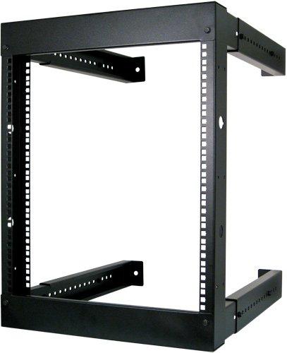 "12U Open Wall Mount Frame Rack - Adjustable Depth 18""-30"""