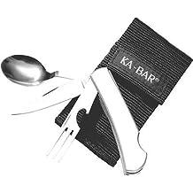 Kabar 1300 Hobo Stainless Fork, Knife, Spoon Eating Tool Folding Knife.
