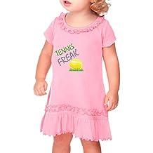 Cute Rascals Tennis Freak Sport Cotton Ruffle Neck Girl Toddler Dress Sunflower