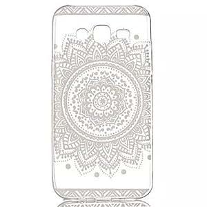Pico de flores suave material transparente TPU Buzón de teléfono para Samsung galaxia J5