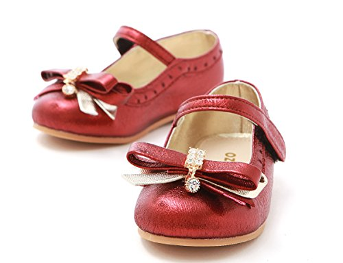 Mary Dress Ribbon Ozkiz slip Jane Shoes S260 Anti Flats With Girls wine Little vqqwrnIf