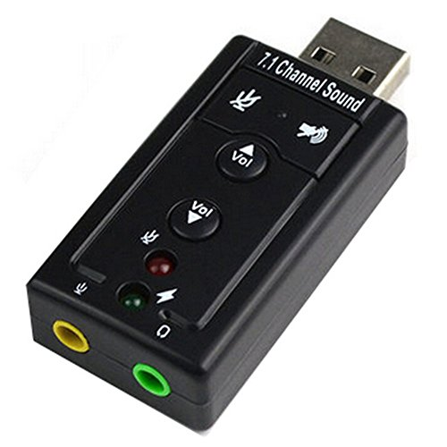 Virtual Channel USB Sound Card Adapter (Black) - 6