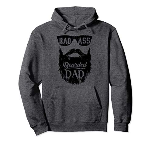 Father's Day Bearded Badass Dad Gift Pullover Hoodie
