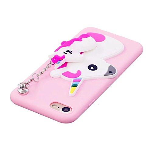 Funda Galaxy S7 Edge Rosa,Galaxy S7 Edge Carcasa Silicona Gel MUTOUREN Case Ultra Delgado TPU Goma Flexible Funda Samsung Galaxy S7 Edge - Colgante unicornio Unicornio rosado