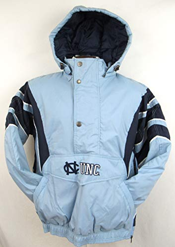 STARTER North Carolina Tar Heels Mens Size X-Large Embroidered 1/4 Zip and Snap Winter Jacket AUNC 20 XL
