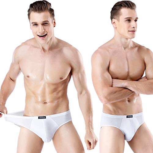 Mens Underwear Modal Microfiber Briefs No Fly Covered Waistband Silky Touch Underpants