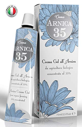 Arnica 35 - THE MOST CONCENTRATED - Arnica Gel Cream with a 35% concentration - Specific for Bruises, Neck Pain, Back Pain, Shoulder Pain, Leg and Foot Pain, Muscle Pain