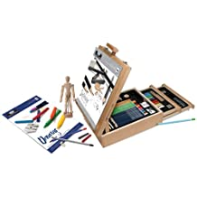 Royal & Langnickel 124-Piece Sketching and Drawing Easel Artist Set