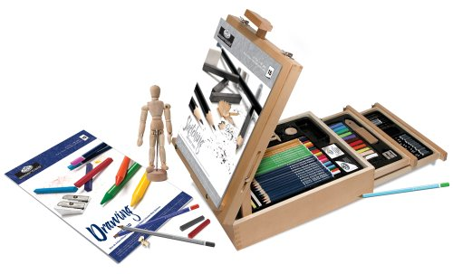 Royal & Langnickel 124-Piece Sketching and Drawing Easel Artist Set by Royal & Langnickel