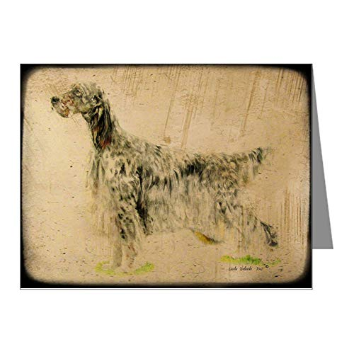 CafePress Funky English Setter Note Cards Blank Note Cards (Pack of 20) Matte (Setter Note English Cards)