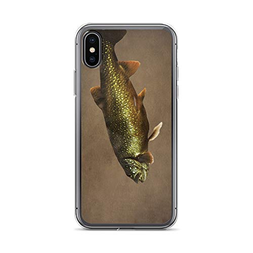 iPhone X/XS Case Anti-Scratch Creature Animal Transparent Cases Cover Trout On Brown Animals Fauna Crystal Clear