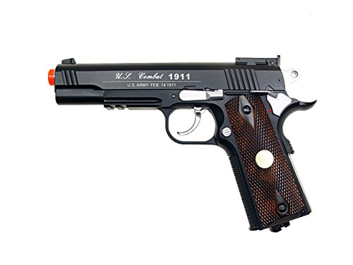 AL WG AIRSOFT M 1911 GAS CO2 HAND GUN PISTOL w/ 6mm BB BBs (6mm Co2 Powered Blowback Pistol)