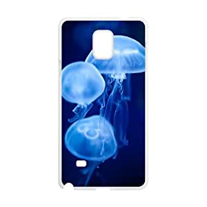 T-TGL(RQ) Samsung Galaxy Note 4 New-Printed Phone Case Jellyfish with Hard Shell Protection