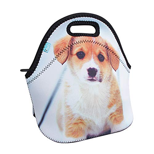 (Neoprene Lunch Tote, OFEILY Children's Lunch Box (Middle, Staring dog))