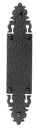 Acorn Manufacturing WNABP Warwick Collection 12 Inch Push Plate, Black Iron Finish