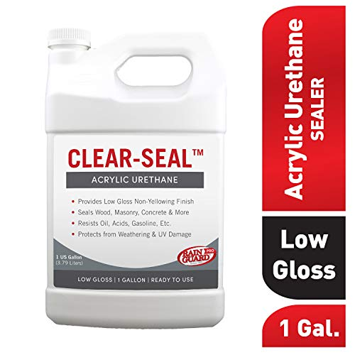 (Rainguard International CU- 0201 Seal Acrylic Urethane Coating Low Gloss 1 gal (Ready to Use), Clear)
