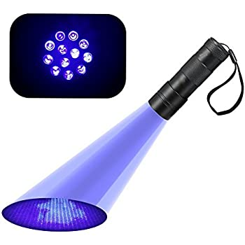 Korada Uv 12 Led Ultraviolet Blacklight Stain Amp Urine
