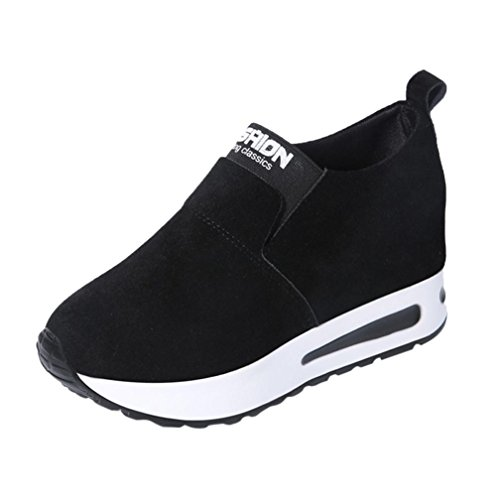 Colorful TM Fashion Women Outdoor Walking Sneakers Sports Running Hiking Wild Hidden Heel Casual Shoes Black 2fNZL