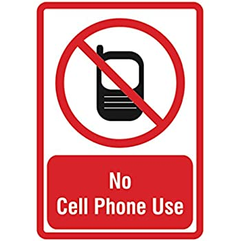 no cell phone use sign large phone business signs single sign 12x18