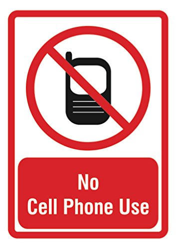iCandy Combat No Cell Phone Use Sign - Large Phone 12 x18...