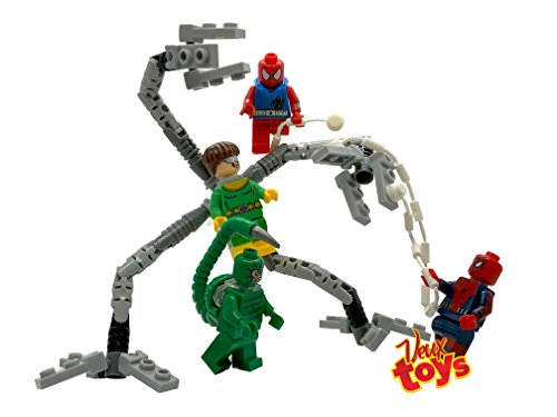 Doctor Octopus Toys - Veux Toys Spider-Man Minifigure Set of 4. Dr. Octopus (Doc Ock), Scorpion, Spider-Man (Peter Parker) and Scarlet Spider (Ben Reilly)