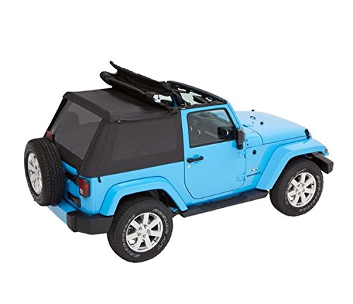 Bestop 56852-35 Black Diamond Trektop for 2007-2018 Jeep Wrangler JK 2-Door (Best Jk Soft Top)