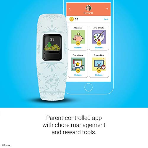 Garmin 010-01909-38 Vivofit Jr. 2, Kids Fitness/Activity Tracker, 1-Year Battery Life, Adjustable Band, Disney Frozen 2…