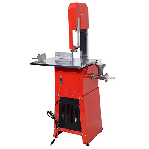 Tangkula Electric 550W Proffessional Butcher Meat Band Saw & Grinder - Meat Saw