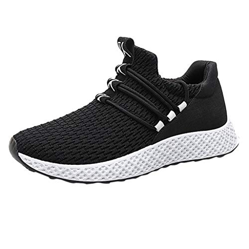 (HYIRI New Classic Men Sneakers Casual Shoes Breathable Lace Up Shoes Student Running Shoes(Blue,Black,Gray))