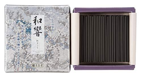 Incense Mini Fragrance - Shorindo Japanese Sandalwood Incense Sticks Wakyo Less Smoke Type Mini Short Sticks - 2.4 inches 195 Sticks - Made in Japan