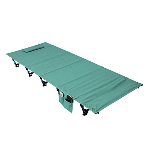 Beds Kids Green Aluminium with Ultralight Cot Bed Camping Bag Adult Bed Single Folding Hiking or Tent Travel Alloy Metal Camp Fishing Outdoor Storage Portable for Frame TzTSq4