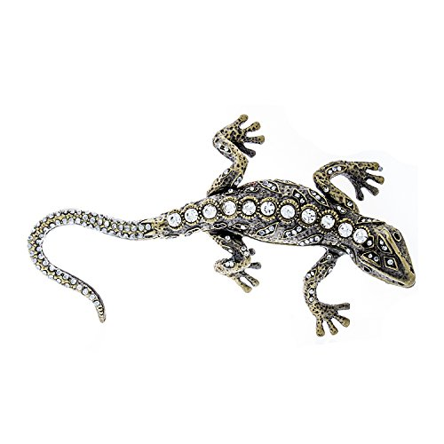 (Collectible Decorative Jeweled Gecko Trinket Box)