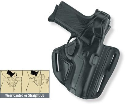 Gould & Goodrich B803-250 Gold Line Three Slot Pancake Holster (Black) Fits SIG 250 COMPACT 9MM, 40, .357 ()
