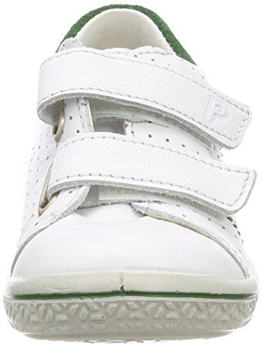 Ricosta Jungen Barney Sneaker Weiß (Weiss/Grün)