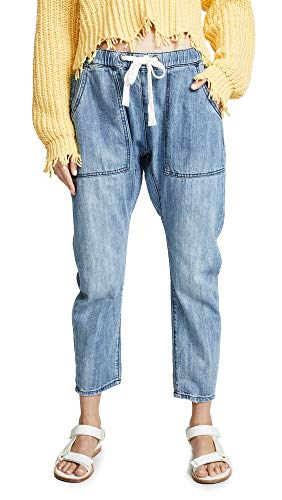 One Teaspoon Women's Shabbies Drawstring Boyfriend Jeans, Original Blue, Medium ()