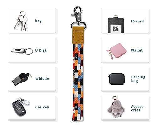 Wrist Lanyard for Keys, RopeTon Hand Wrist Lanyard Keychain Holder Wristlet Strap for Keys, Wallet,ID Badge,Camera and Cell Mobile Phone (A)