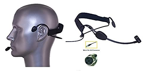 AV-JEFE AVL6101 Professional Vocalist Headset Microphone_ for use with your Shure wireless systems _ Designed for Professional Singing & Live Stage Performance