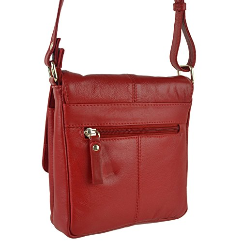 Small Cross BAG Colours Black Handy Ladies Body LEATHER Red Shoulder PrimeHide By 5 dqxwfRUp