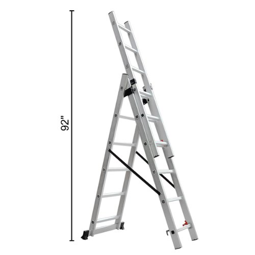 3 Section Ladder : Lbs aluminum multi purpose section ladder buy