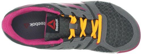 Reebok Womens One Trainer 1.0 Rivetto Da Scarpe Cross-training Grigio / Rosa Confetto / Arancione Neon / Ottimo Rosso / Bianco