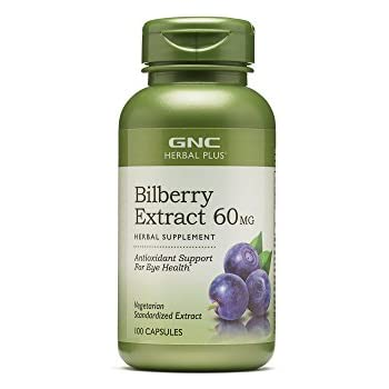 GNC Herbal Plus Bilberry Extract 60MG