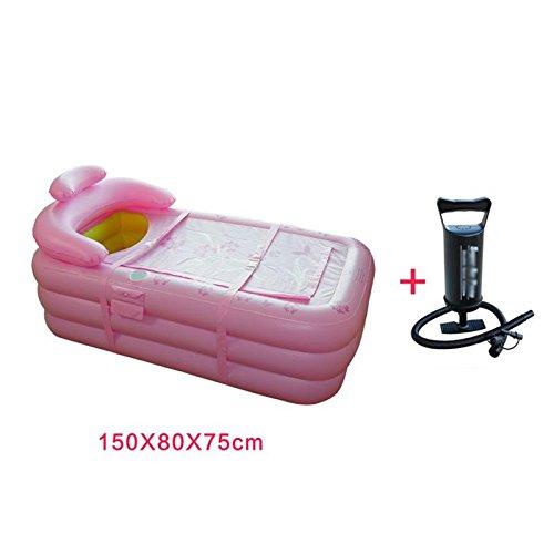 prendiamo i clienti come nostro dio ZWL Gonfiati vasca vasca vasca più spessi di plastica pieghevole Bambino adulti Lavabo da bagno più spesso Barili portatili Botti Vasca da bagno fashion.z ( colore   rosa )  negozio online