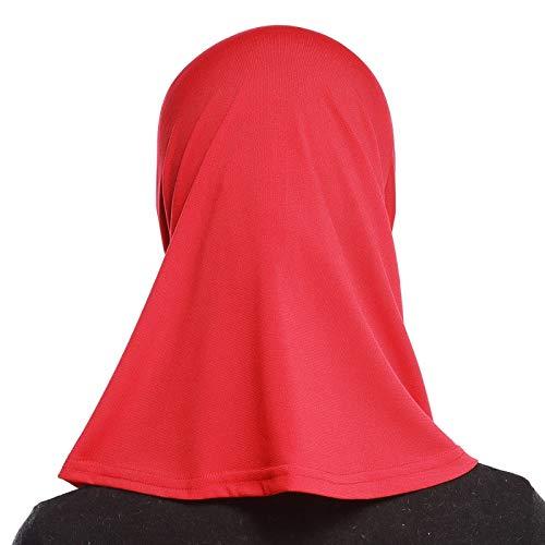 4Pcs Islamic Turban Head Wear Hat Underscarf Hijab Full Cover Muslim Cotton Hijab Cap in 4 Colors (D) by HANYIMIDOO (Image #4)