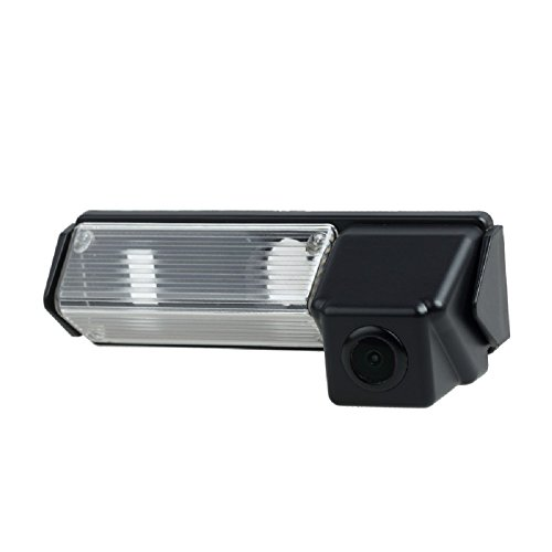 Misayaee Rear View Back Up Reverse Parking Camera in License Plate Lighting Night Version (NTSC) for Pajero Sport/Montero/Nativa/Dakar/Challenger/Grandis/Colt Plus/Space Wagon ()