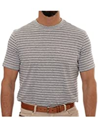 Grey Stripe Turner Peached Jersey T-Shirt
