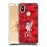 Official Liverpool Football Club Home Colourways Liver Bird Camou Soft Gel Case for Xiaomi Mi A2 / Mi 6X