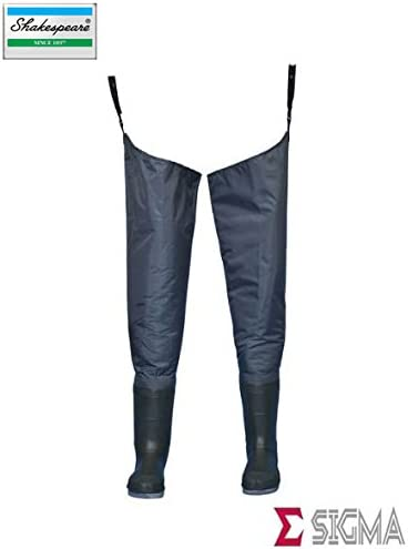Shakespeare Sigma Felt Sole Nylon Hip Waders with Free Studs