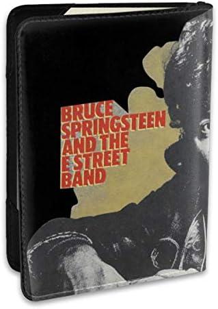 Bruce Springsteen ロング パスポートケース メンズ 男女兼用 パスポートカバー パスポート用カバー パスポートバッグ ポーチ 6.5インチ高級PUレザー 三つのカードケース 家族 国内海外旅行用品 多機能