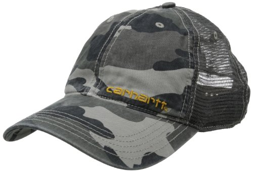 Mens Carhartt Camouflage - Carhartt Men's Brandt Cap,Rugged Gray Camo,One Size
